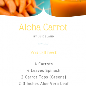 The Aloha Carrot Recipe with Aloe Vera