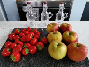 Washed Apples & Strawberries