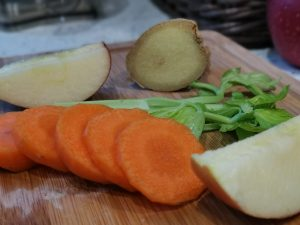 Prepared Carrots, Apple and Celery with Ginger